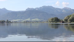 Chiemsee in Bavaria in Germany Stock Footage