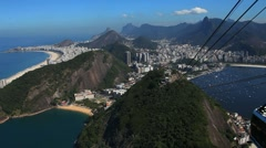Rio De Janeiro shot from the sugar loaf mountain - stock footage