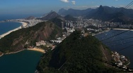 Rio De Janeiro shot from the sugar loaf mountain Stock Footage