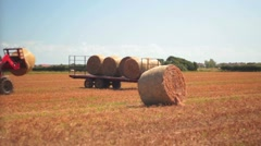 Hay Bale Stock Footage