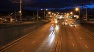 Night road. Timelapse 1080p Stock Footage
