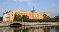 Stock Video Footage of The Mikhailovsky Palace in summer, St. Petersburg, Russia