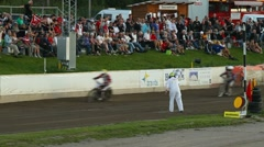 Speedway racing finish Stock Footage