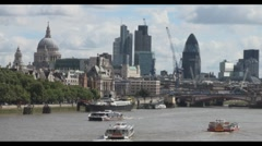 London Skyline - stock footage
