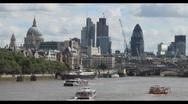 London Skyline Stock Footage