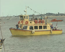 Passing Brownsea island ferry Stock Footage