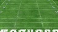 Football Field Stock Footage
