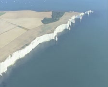 Aerial view of white cliffs Stock Footage