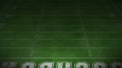 Football Field - stock footage