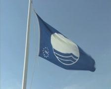 Blue Flag Stock Footage