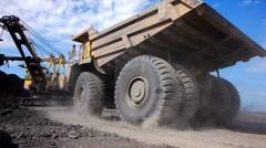 Mining dump truck 015 Stock Footage