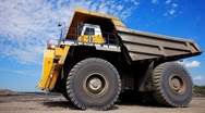 Mining dump truck 018 Stock Footage