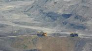 Mining dump truck 025 Stock Footage