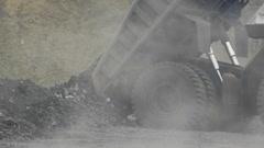 Mining dump truck 026 Stock Footage