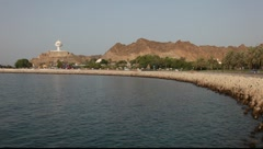 Muttrah Corniche, Muscat, Sultanate of Oman Stock Footage