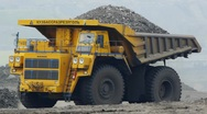 Mining dump truck 030 Stock Footage