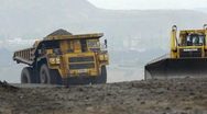 Mining dump truck 034 Stock Footage