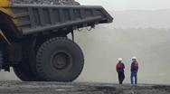 Mining dump truck 039 Stock Footage
