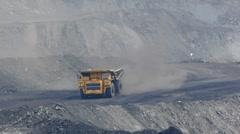 Mining dump truck 052 Stock Footage