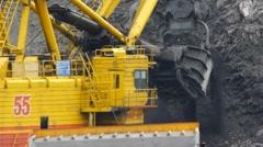 Mining Excavator 6 - stock footage