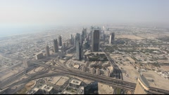 Aerial view of Dubai United Arab Emirates - stock footage