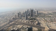 Stock Video Footage of Aerial view of Dubai United Arab Emirates