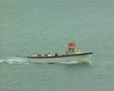 Boats passing in sea Stock Footage