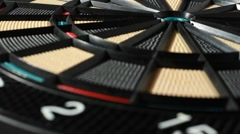 Clear high quality dartboard rotates - stock footage