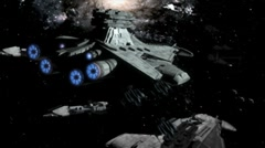 Establishment shot Alien fleet Stock Footage