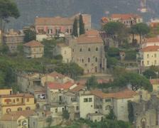 Buildings near coast Stock Footage
