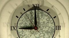 Clock show 9 o'clock Stock Footage