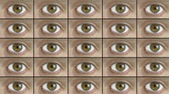 Intrusive eyes watching you Stock Footage