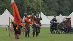 Stock Video Footage of Reenactment English civil war