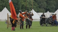 Stock Video Footage of Reenactment English civil war