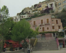 View of pink building Stock Footage