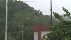 Strong Winds Blow During Tropical Storm Stock Footage