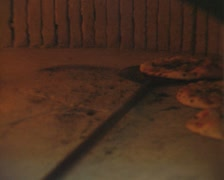 Pizzas in oven Stock Footage