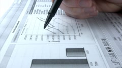 Finance Diagram analysis - stock footage