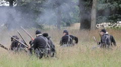Union troops withdraw Stock Footage