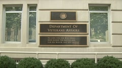 Veterans Administration headquarters Stock Footage