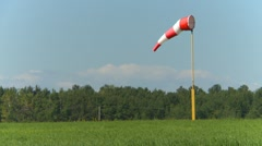 windsock at airstrip - stock footage