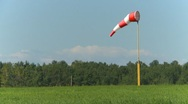 Stock Video Footage of windsock at airstrip