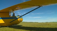 Aircraft, Schweizer glider  launching from grass strip, ground winch launch, #5 Stock Footage