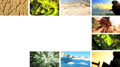 Montage  Contrasting the Effects of Natural & Fossil Fuel Production Stock Footage