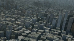 flight over 3d city - stock footage
