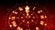 Stock Video Footage of Sketching Watches in Red and Gold - Clock 19 (HD)