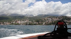 Tourism in the Adriatic Sea in Montenegro Stock Footage