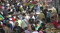 Fruit and vegetable market in China in the summer Stock Footage