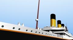 TitanicCOLOURCrowNest Stock Footage