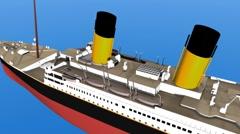 TitanicCOLOURForeLifeboats Stock Footage